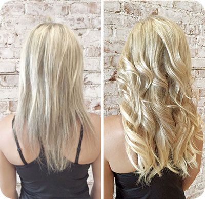 Asalon hair extensions before and after